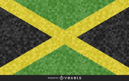 Bandera de diseño poligonal de Jamaica