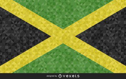 Bandera de Jamaica Diseño Abstracto