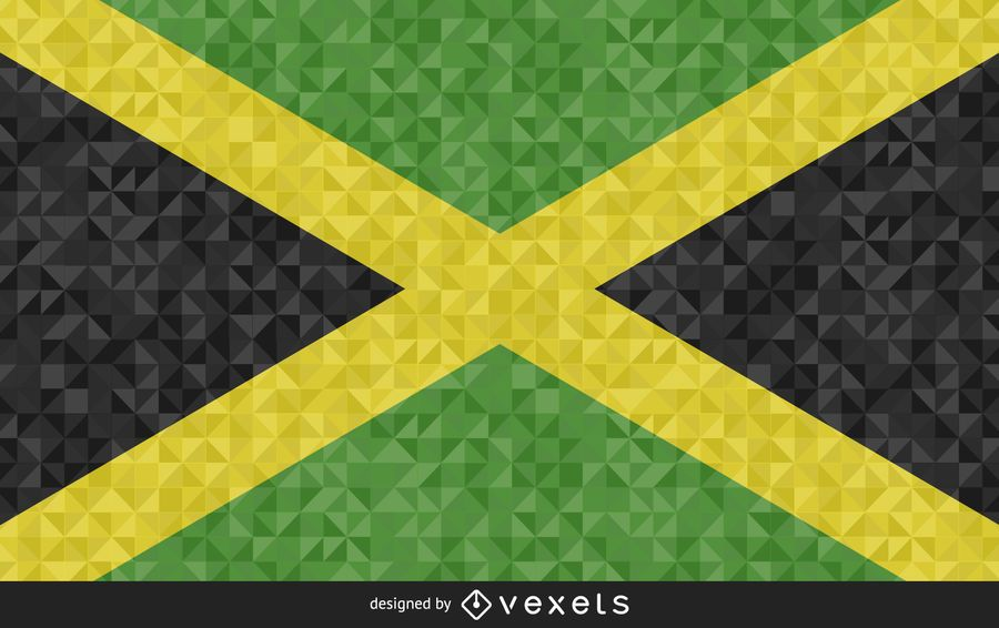 Design poligonal da bandeira da Jamaica