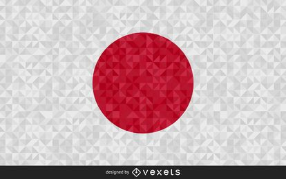 Flag of Japan Abstract Design