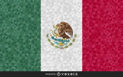 Bandeira do design abstrato de México