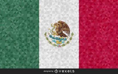 Desenho poligonal da bandeira do México