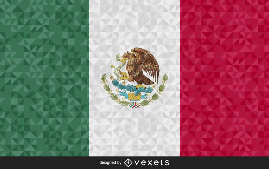 Flag of Mexico Abstract Design