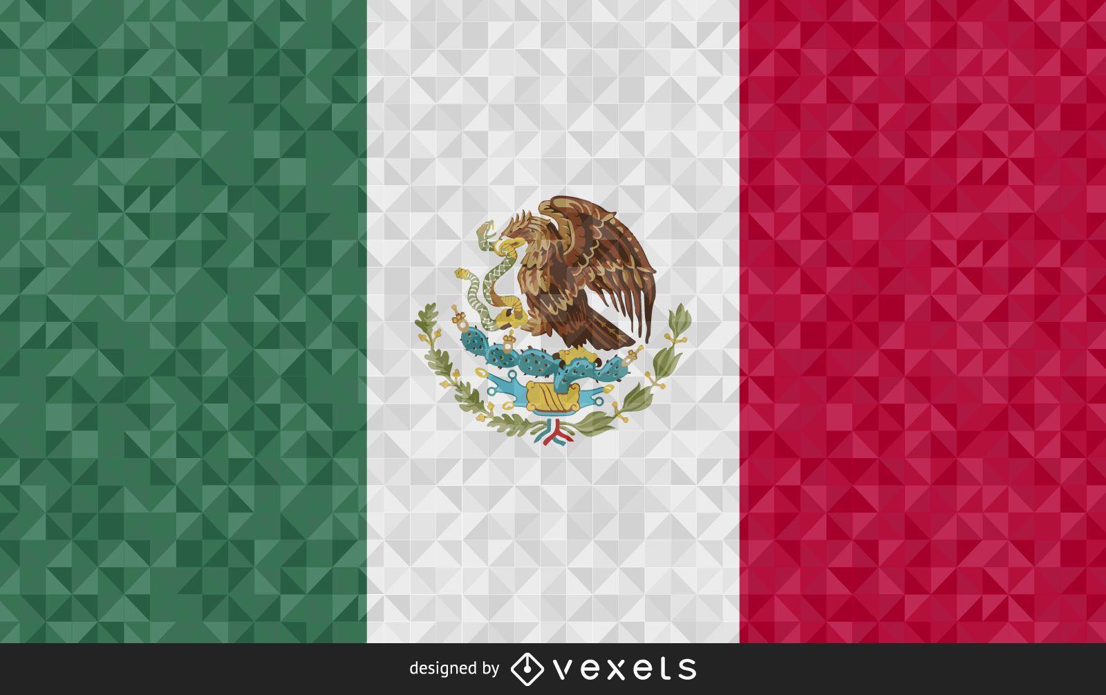 Flag of Mexico polygonal Design