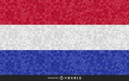 Bandeira da Holanda com desenho poligonal
