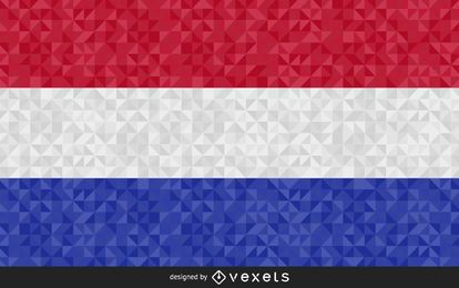 Bandera de Holanda Diseño Abstracto