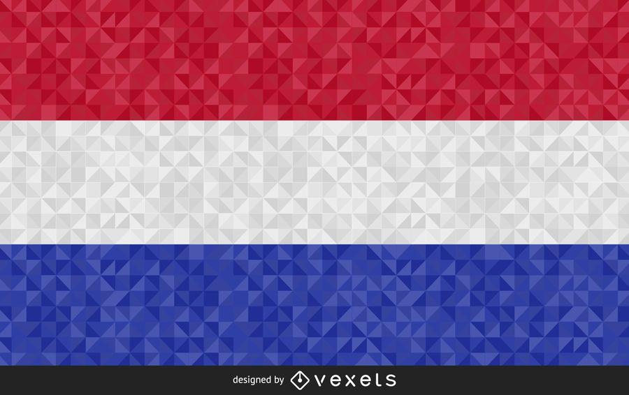 Bandeira do design abstrato de Holanda