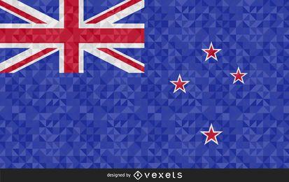 Bandera de Nueva Zelanda Diseño Abstracto