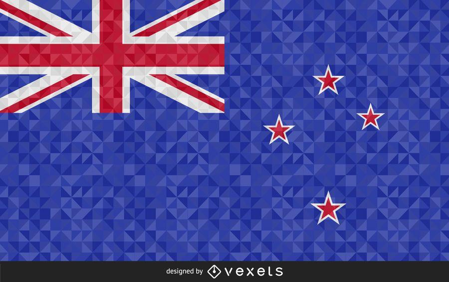 Bandeira do design abstrato de Nova Zelândia