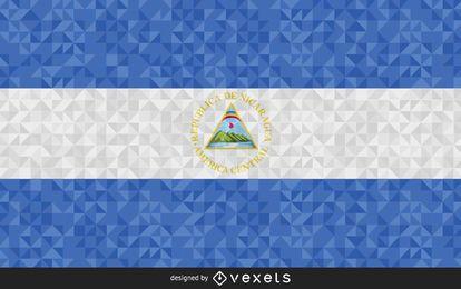 Bandera de El Salvador Diseño poligonal