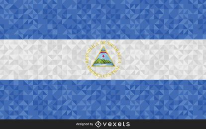 Flag of El Salvador Abstract Design