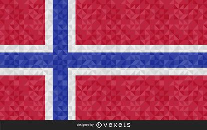 Flag of Svalbard Abstract Design