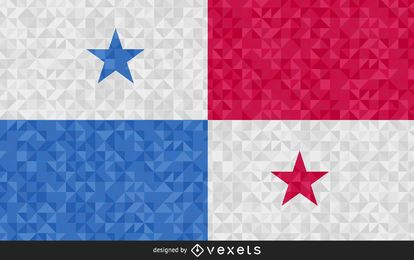 Flag of Panama Abstract Design