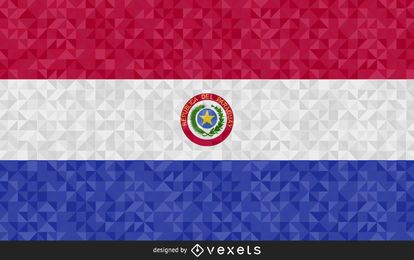 Flag of Paraguay polygonal Design