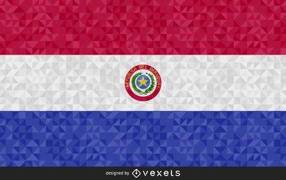 Flagge von Paraguay-Zusammenfassungs-Design