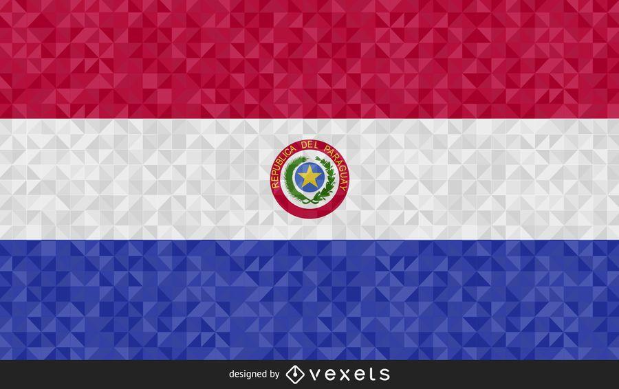 Bandera de Paraguay Diseño Abstracto