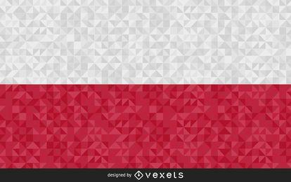 Bandeira da Polónia Abstract Design
