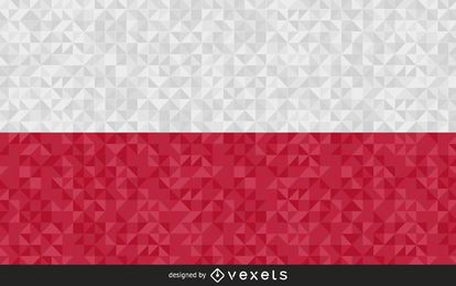 Flag of Poland Abstract Design