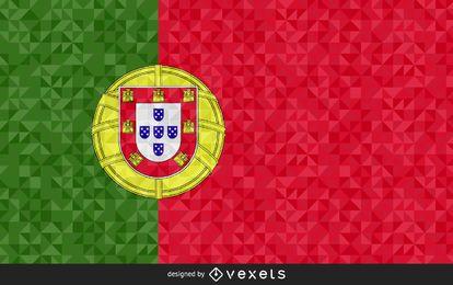 Bandera de Portugal diseño poligonal