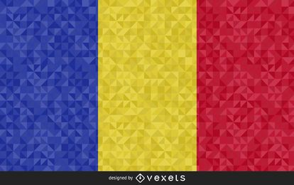Flag of Chad Abstract Design