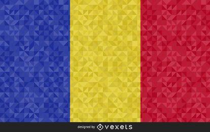 Flagge des Tschad-abstrakten Designs