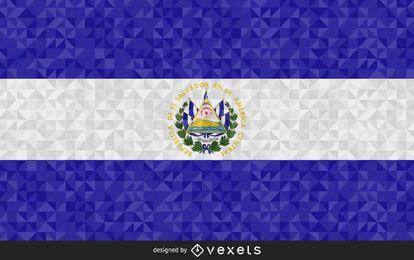 Bandera poligonal de El Salvador