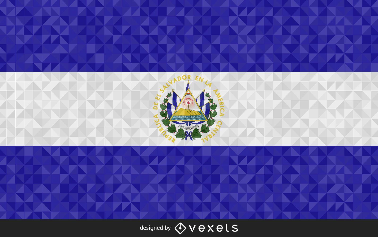 El Salvador polygonal Flag
