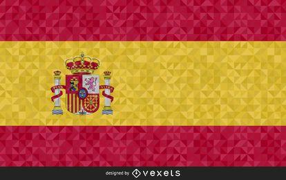 Design poligonal da bandeira da Espanha
