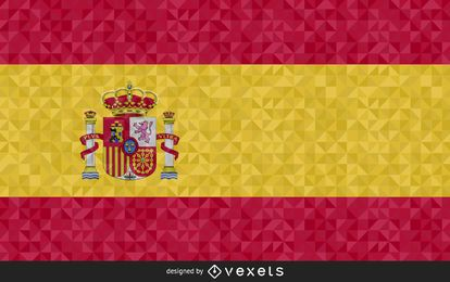 Flag of Spain polygonal Design