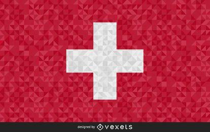 Bandera de Suiza diseño poligonal