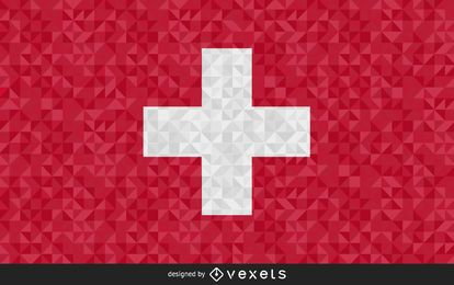 Flag of Switzerland Abstract Design