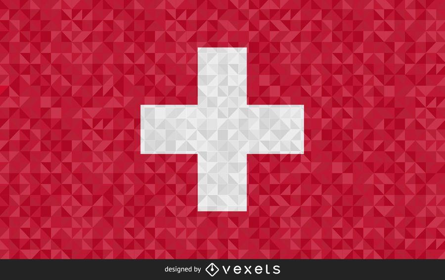 Flag of Switzerland Abstract Design