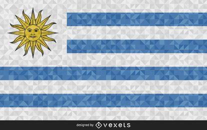 Bandeira do Uruguai Design poligonal