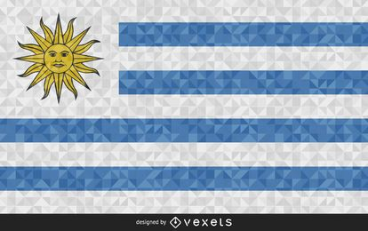 Flag of Uruguay polygonal Design