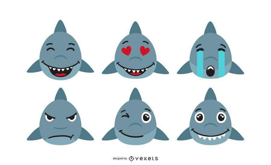 Set de Emojis de Tiburon