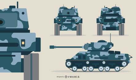 Battle Tank Illustration