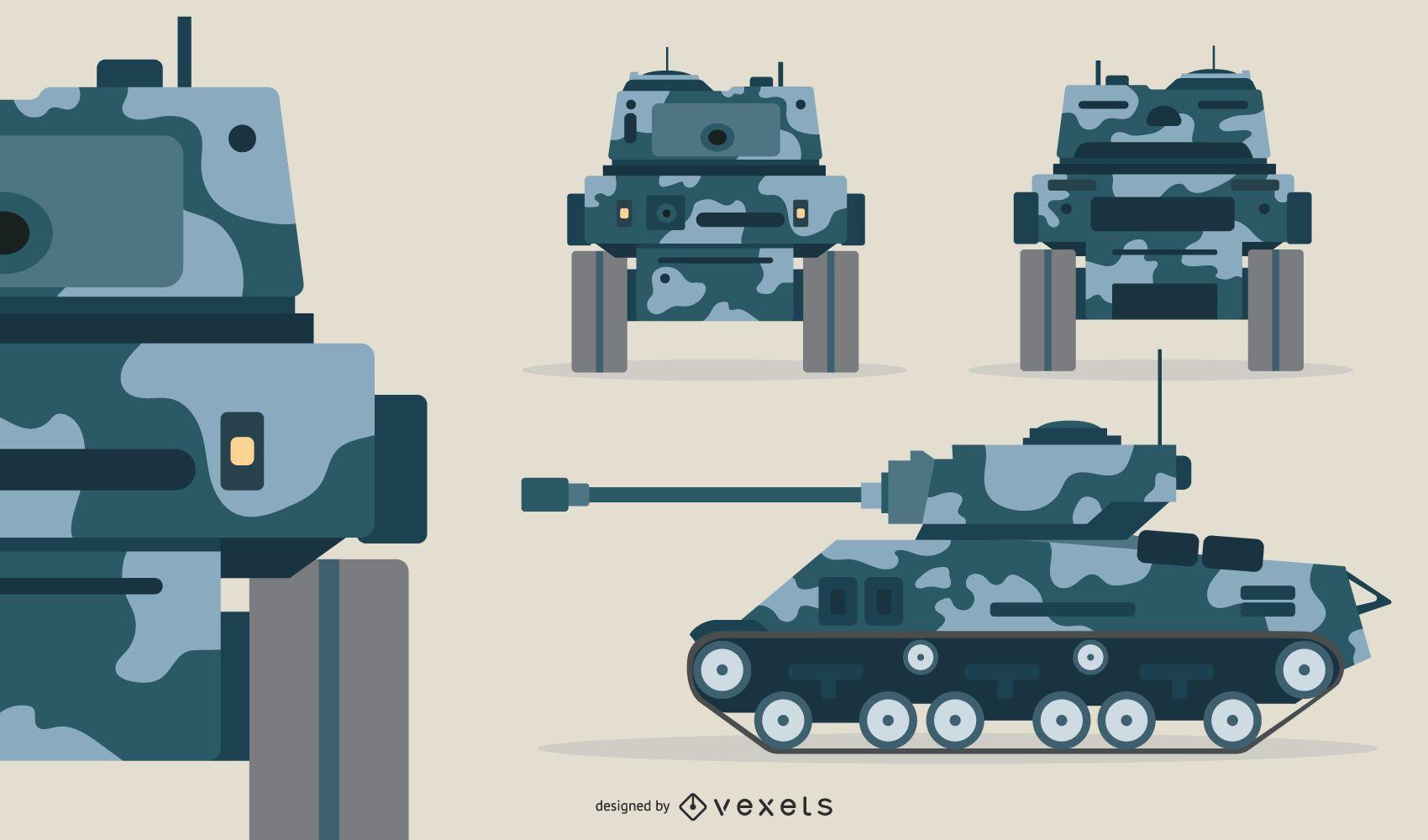 Ilustración de tanque de batalla