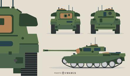 Ilustración de tanque militar