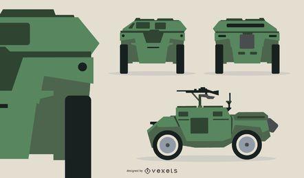 Ilustración de pistola de tanque compacto