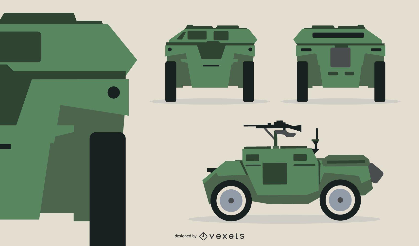 Compact Tank Gun Illustration