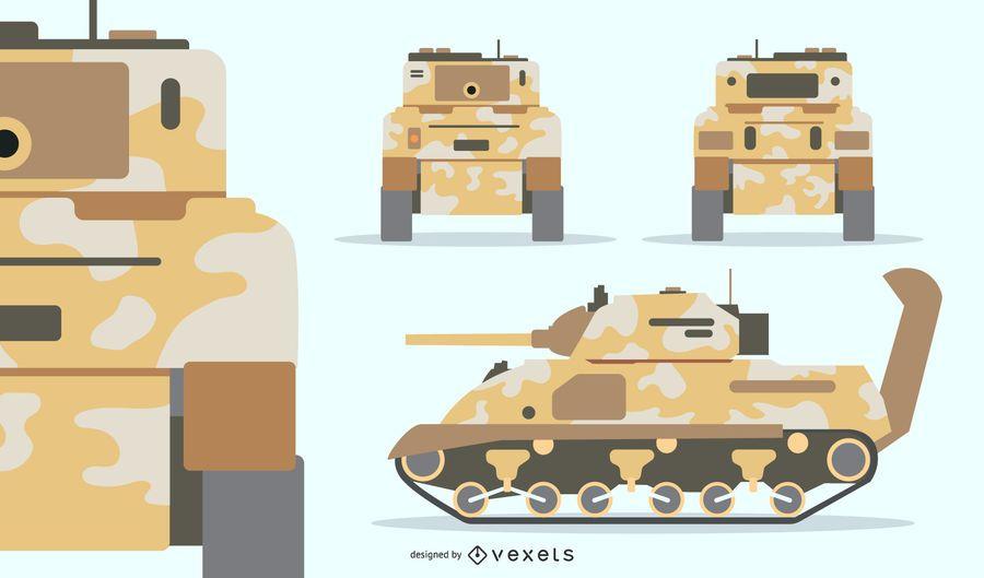 Tarnfarbenes Panzerset