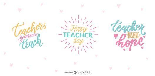 Diseño de letras para el día del maestro