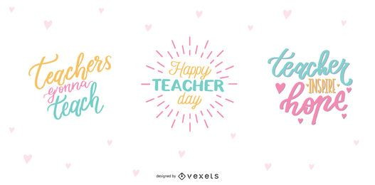 Teacher's Day Lettering Design