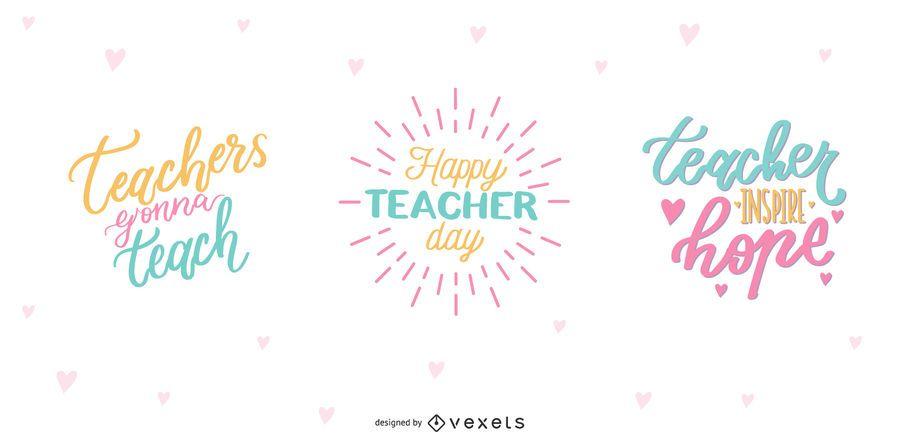 Teacher's Day Lettering Design