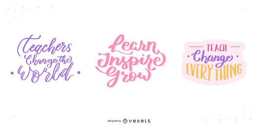 Teacher's Day Lettering Set