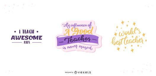 Lehrer-Schriftzug-Set