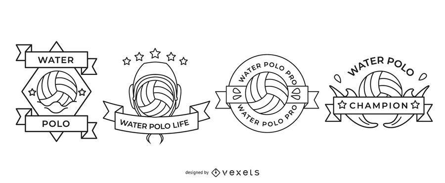 Conjunto de emblemas de pólo aquático