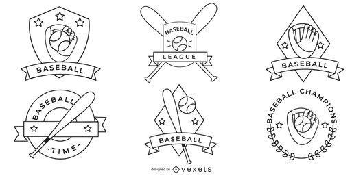 Coleção de distintivos de beisebol