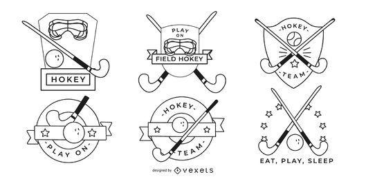 Design De Emblemas De Hóquei