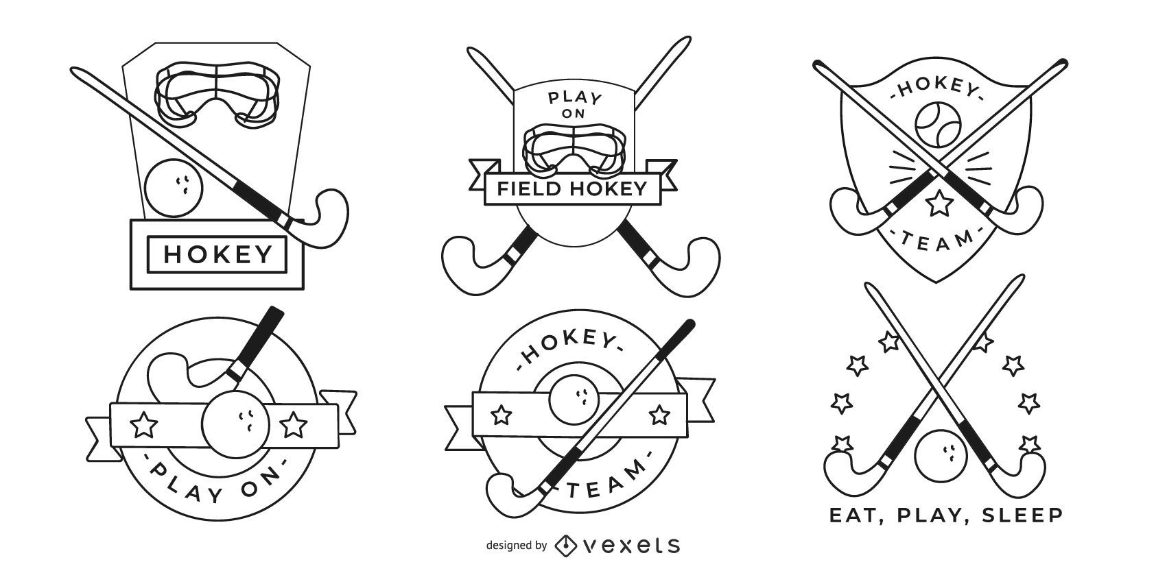 Hockey Badges Design
